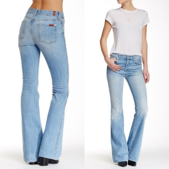 6eb3540d26a0 7 For All Mankind High waist vintage Bootcut jeans